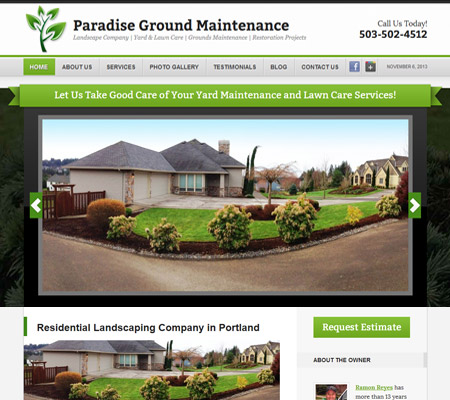 landscaping website portland oregon
