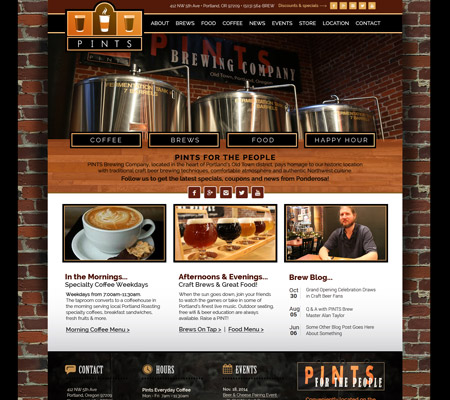 restaurant brewery website